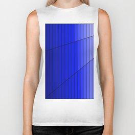 Blue Gradient Pattern Design Biker Tank