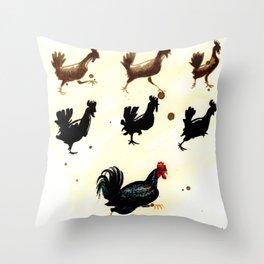 Chicken run Throw Pillow