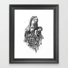 Santa De Carne Framed Art Print