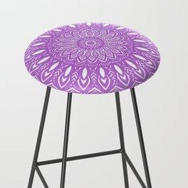 Beautiful Purple Violet Mandala Design Pattern Minimal Minimalistic Bar Stool