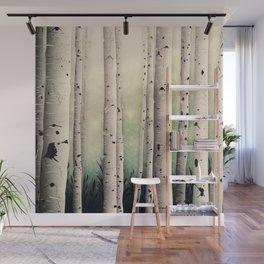 Birch wood at Midsummer Wall Mural