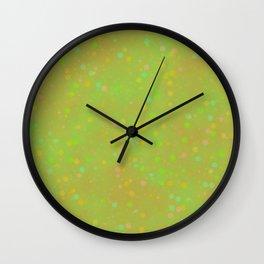 vintage fantasy green dots Wall Clock