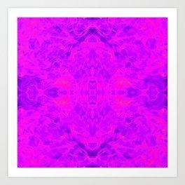 flame pattern, violet Art Print