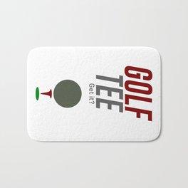 Golf Tee Pun Golfing Game Swing Ball Bath Mat