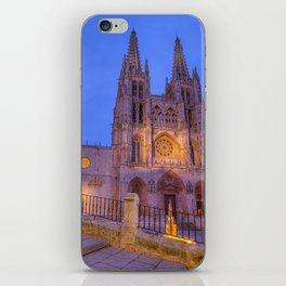 Night view of Burgos Cathedral in Spain. iPhone Skin