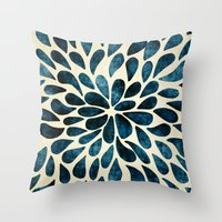 Throw Pillows featuring Petal Burst #5 by Klara Acel