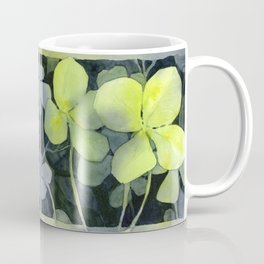 Clover Watercolor Four Leaf Clover Painting Lucky Charm Pattern Coffee Mug