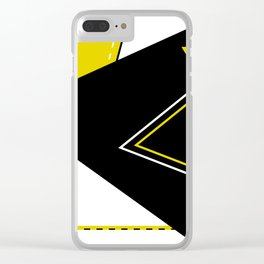 Triangular Mess Clear iPhone Case