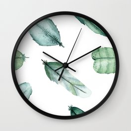 Feather Your Nest Wall Clock
