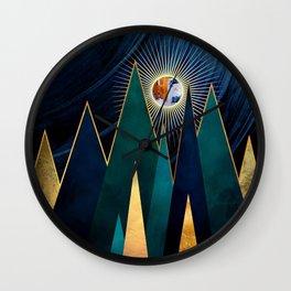 Metallic Peaks Wall Clock