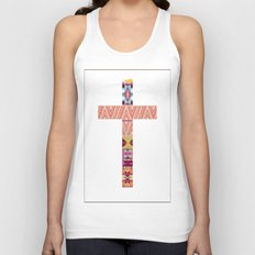 Aztec Cross Unisex Tank Top