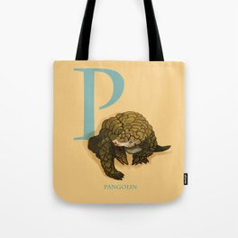 P is for Pangolin: Under Appreciated Animals™ ABC nursery decor orange unusual animals Tote Bag
