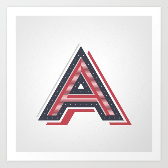 The Letter A Art Print