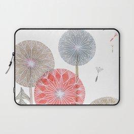 Red dandelions, watercolor Laptop Sleeve