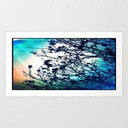 a blue day Art Print
