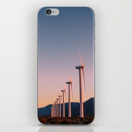 California Desert Windmills at Sunset with Mountain Vistas iPhone Skin