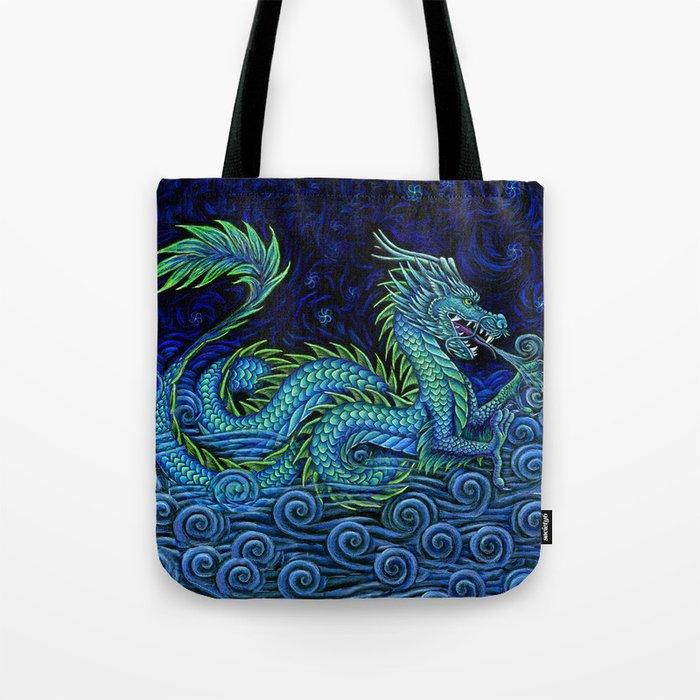 Chinese Azure Dragon Tote Bag