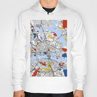 stockholm Hoodies featuring Stockholm mondrian by Mondrian Maps