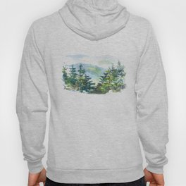 natural landscape watercolor painting Hoody