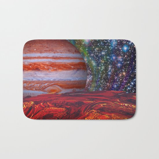 Looking At Jupiter Bath Mat