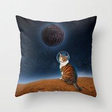 Meowter Space Throw Pillow