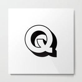Letter Q ... As Easy As ... Metal Print