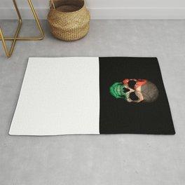Dark Skull with Flag of Jordan Rug