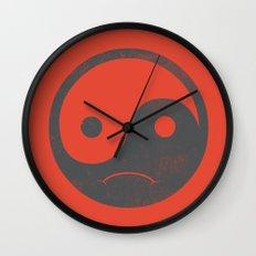 yin yang smiley ;-( Wall Clock
