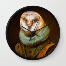 Animals - Funny Owl Painting Wall Clock