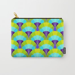 Colorful Elegant Art Nouveau Bird Peacock Seamless Pattern Carry-All Pouch