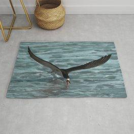 Hungry Black Skimmer Ocean Bird Rug