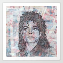 Michael - Black or White Art Print
