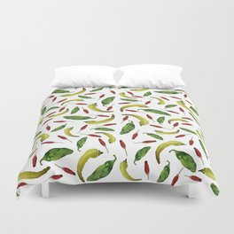 Jalapeno, Banana and Chile Peppers Duvet Cover