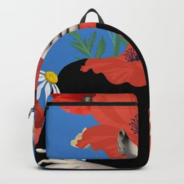 Poppy / Floral Portrait Backpack