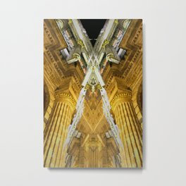 rorscach grand place brussels belgium Metal Print