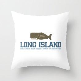 Long Island - New York. Throw Pillow