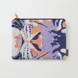 Orange and Purple Tiger Carry-All Pouch