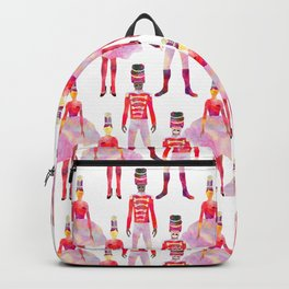 Nutcracker Ballet - White Backpack