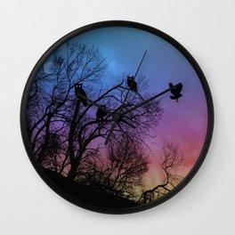 Night Wisdom -Colorful Wall Clock