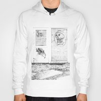 newspaper Hoodies featuring Death's newspaper booth by Art Pass