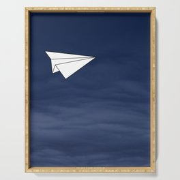 Paper Airplane Serving Tray