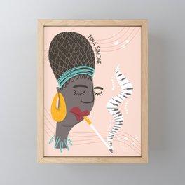 Musical Icon: Nina Framed Mini Art Print