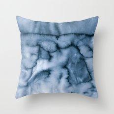 grey blues Throw Pillow