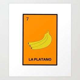 La Platano Banana Mexican Loteria Bingo Card Art Print