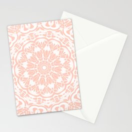 Fresh Coral Mandala Stationery Cards