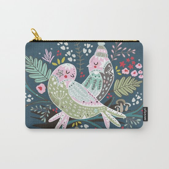 Holiday Birds Love Carry-All Pouch