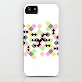 Abstract geometric pattern. Small colored squares on white. iPhone Case