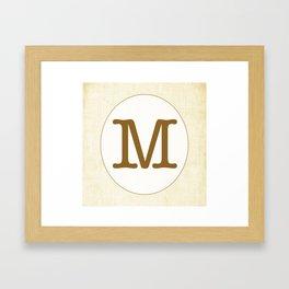 Vintage Letter Series - M Framed Art Print