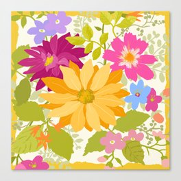 Bold Flowers Canvas Print
