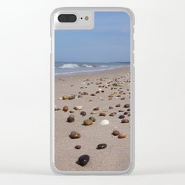 Shiney Stoney Beach - Nairn Scotland - Stones Clear iPhone Case